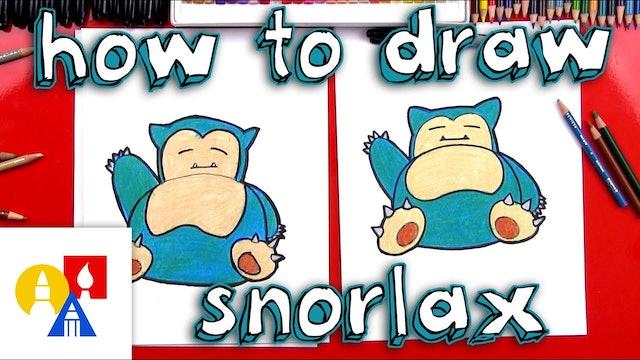 How To Draw Snorlax Pokemon