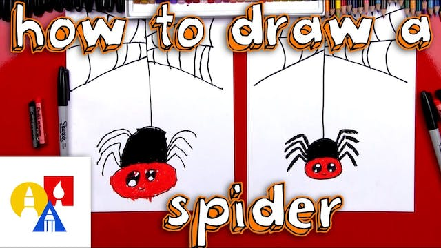 How To Draw A Cartoon Spider And Spid...