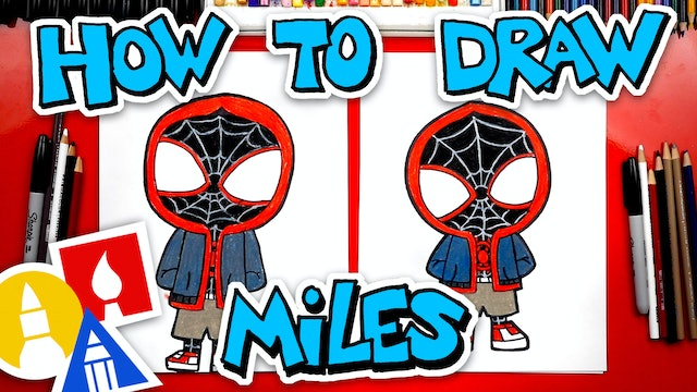 How To Draw Miles Morales From Spider-Man