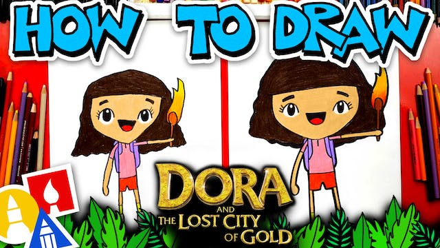 How To Draw Dora From Dora And The Lo...