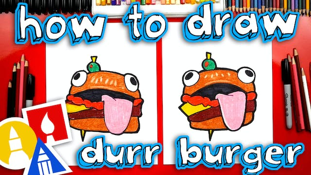 How To Draw Fortnite Durr Burger