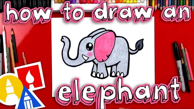 How To Draw A Cartoon Elephant