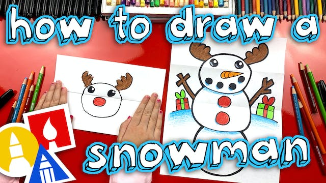 How To Draw A Snowman Folding Surprise