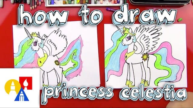 How To Draw Princess Celestia From My...