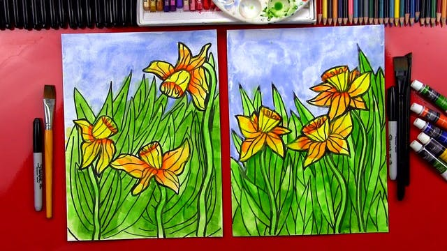 How To Paint Daffodil Flowers - member