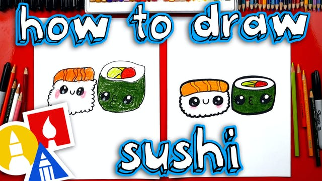 How To Draw A Cartoon Sushi