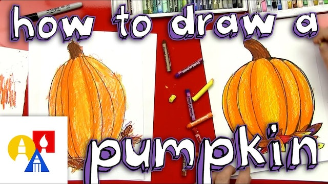 How To Draw A Pumpkin And Color