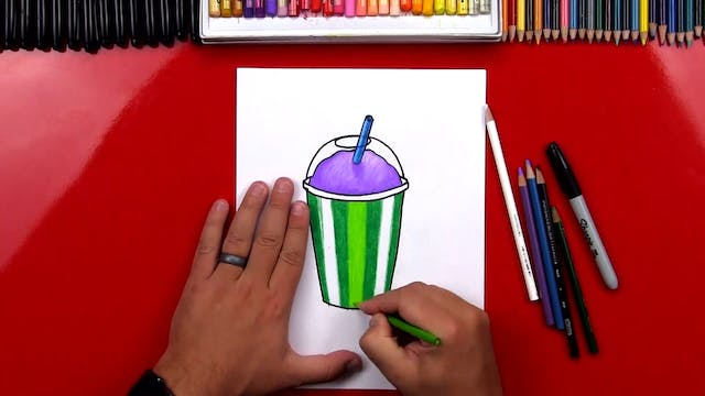 How To Draw A Slurpee (7-11)