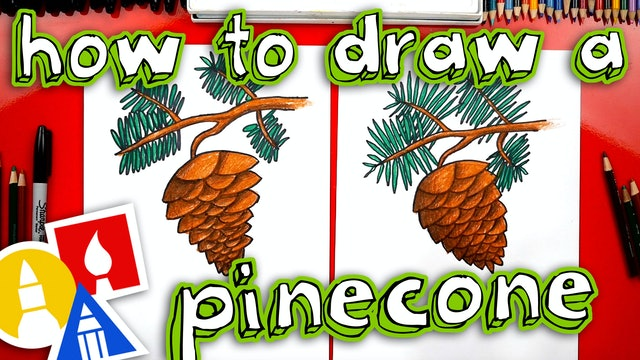 How To Draw A Pinecone