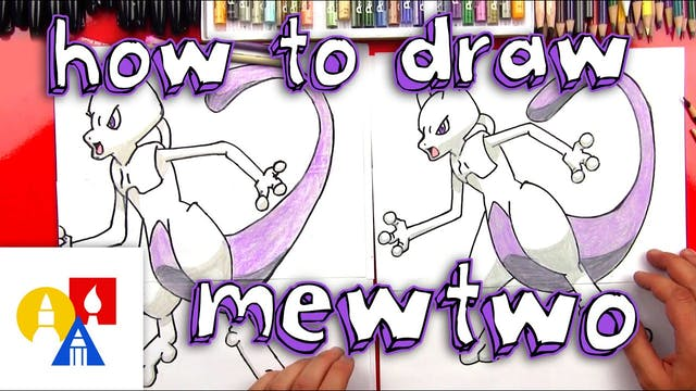How To Draw Mewtwo From Pokemon