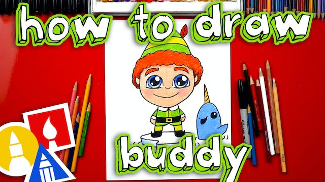 How To Draw Buddy The Elf And Mr Narwhal