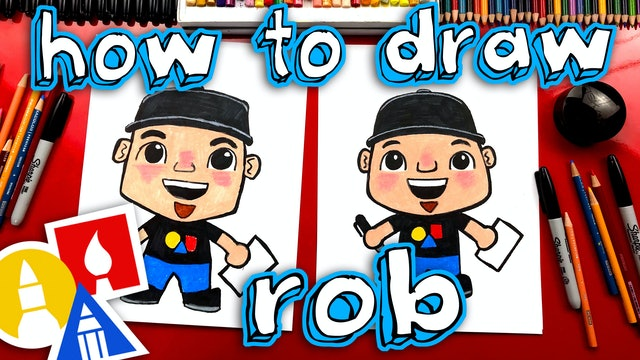 How To Draw Rob From Art For Kids Hub
