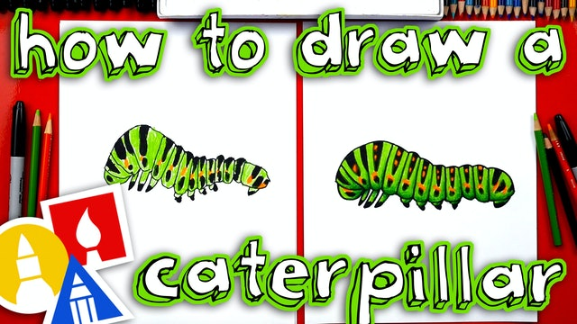 How To Draw A Realistic Caterpillar
