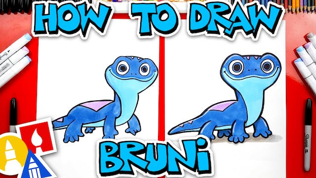 How To Draw Bruni The Salamander Fire...
