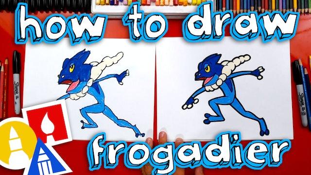 How To Draw Frogadier Pokemon