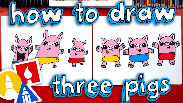 How To Draw The Three Little Pigs
