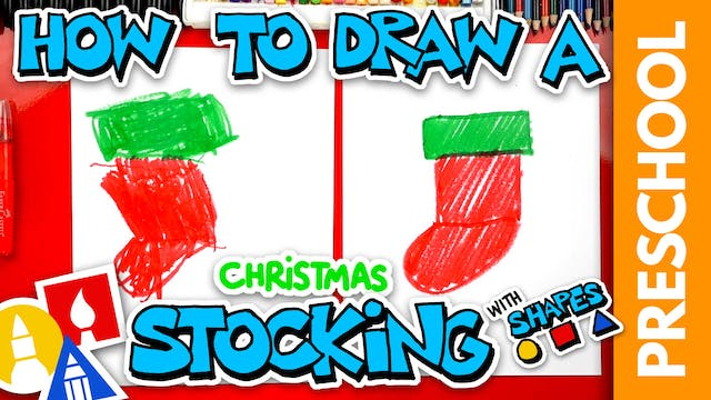Drawing A Christmas Stocking With Sha...