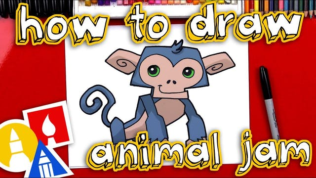 How To Draw Animal Jam Monkey - member