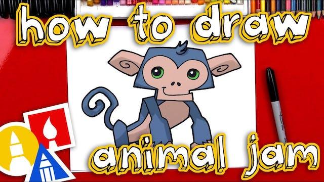 How To Draw Animal Jam Monkey - member