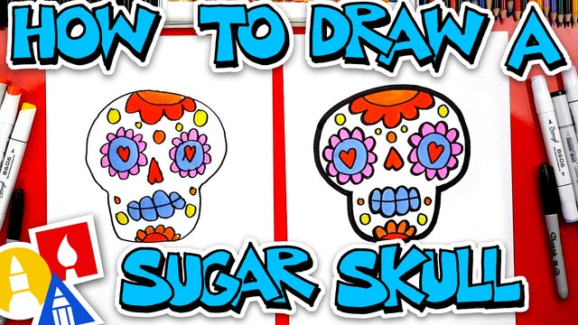 How To Draw A Simple Sugar Skull