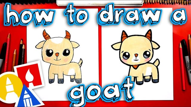 How To Draw A Cute Goat