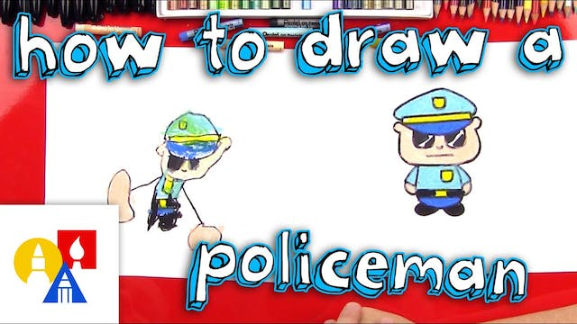 How To Draw A Cartoon Policeman