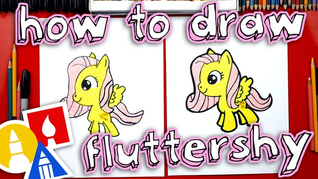 How To Draw Fluttershy Cartoon
