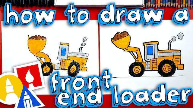 How To Draw A Front End Loader Constr...