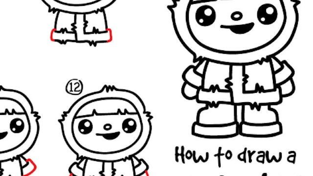 How To Draw A Winter Kid (PRINTABLE)
