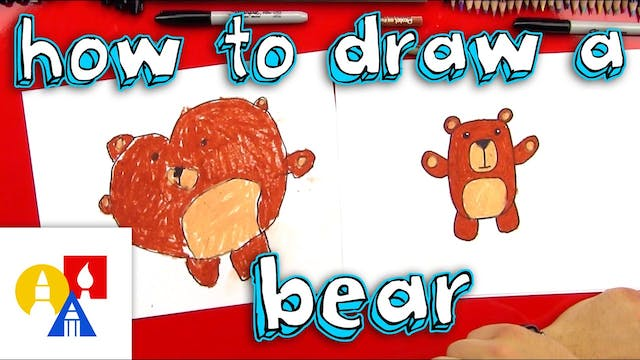How To Draw A Cartoon Bear For Young ...