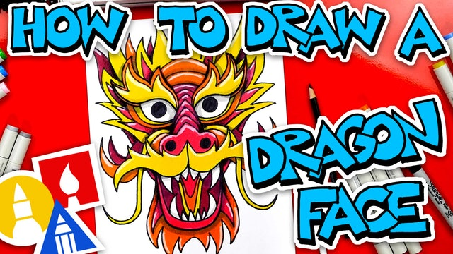 How To Draw A Chinese Dragon Face