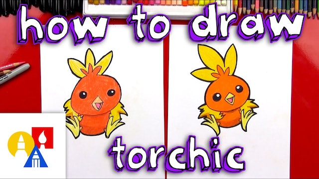 How To Draw Torchic Pokemon