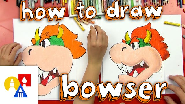 How To Draw Bowser From Mario