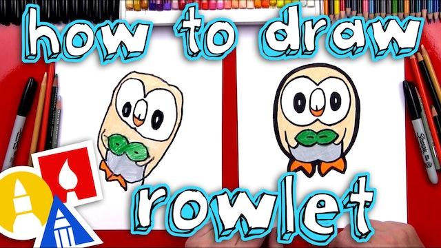 How To Draw Rowlet Pokemon