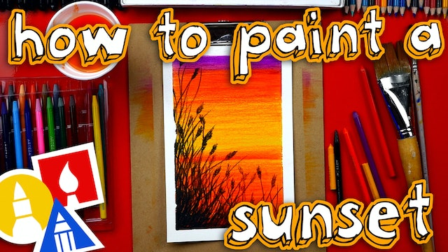 How To Use Watercolor Pencils To Paint A Sunset