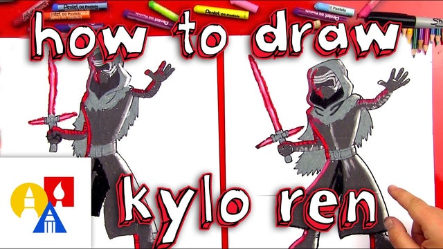 How To Draw Kylo-Ren From Star Wars