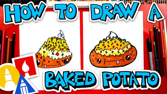 How To Draw A Funny Baked Potato