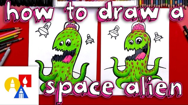 How To Draw A Space Alien