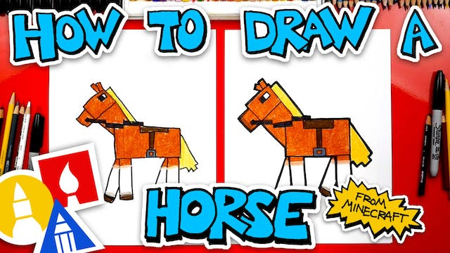 How To Draw A Horse From Minecraft me...