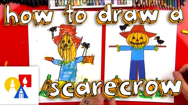 How To Draw A Scarecrow