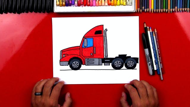 How To Draw A Semi Truck