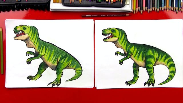How To Draw A Realistic T-Rex Dinosaur