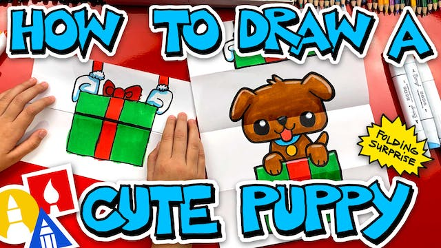 How To Draw A Puppy Folding Surprise