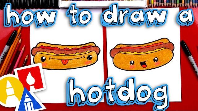 How To Draw A Hotdog