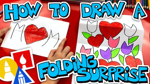 How To Draw A Mothers Day Folding Sur...