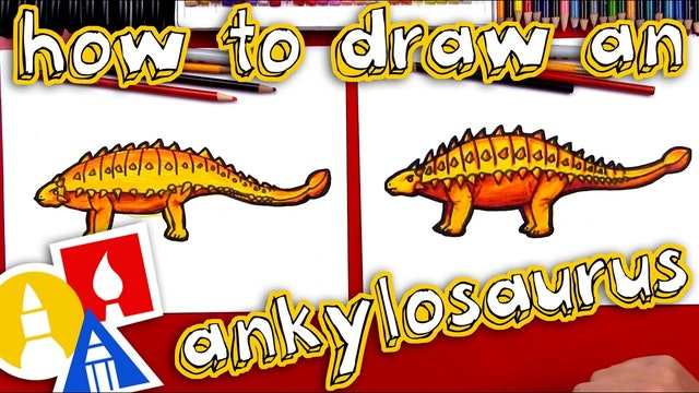 How To Draw An Ankylosaurus Dinosaur