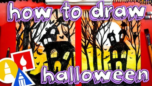 How To Draw A Halloween Night Silhouette