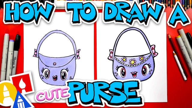 How To Draw A Cute Purse