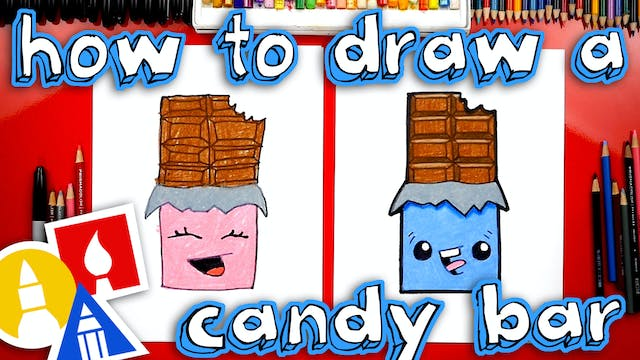 How To Draw A Chocolate Candy Bar