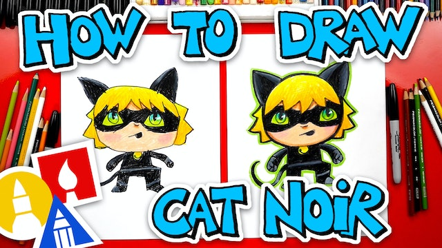 How To Draw Cat Noir From Miraculous Ladybug